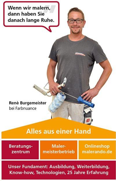 Renè Burgemeister, Maler bei farbnuance, Ihrem Malermeister-Fachbetrieb in Pirna/Dresden/Sachsen