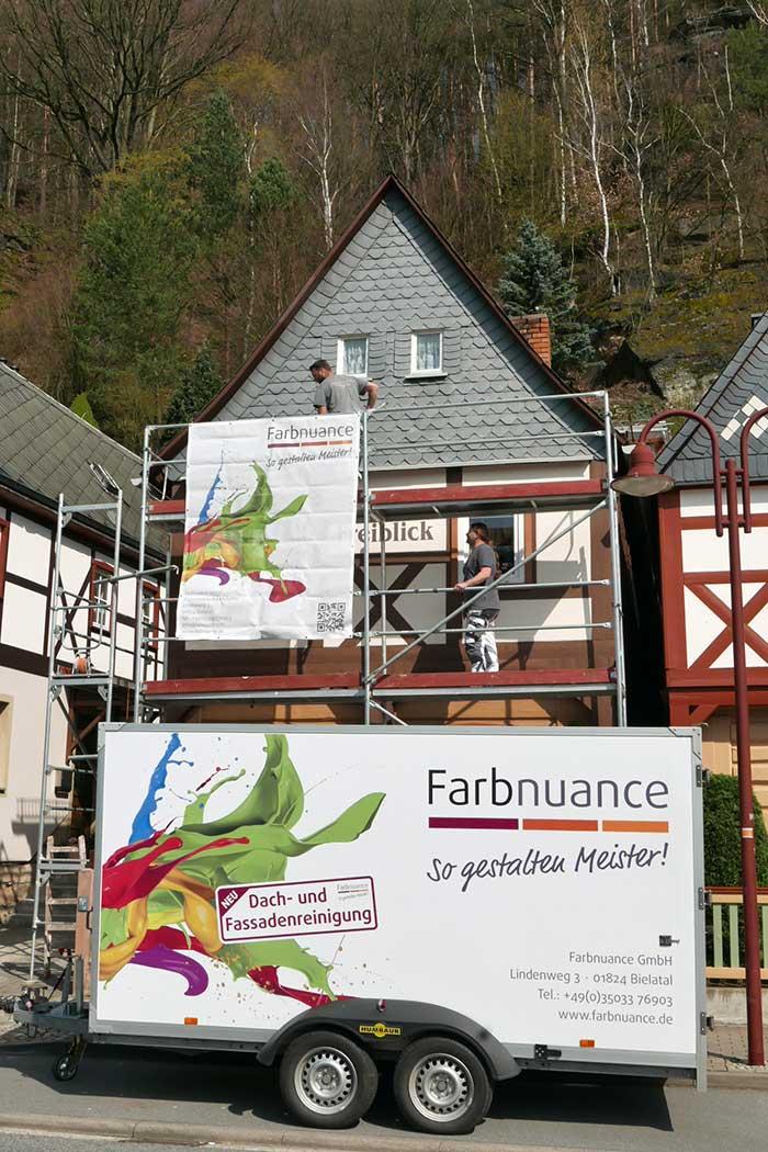 Fassadenanstrich von Farbnuance-Malermeister-Fachbetrieb in Postelwitz/Bad Schandau