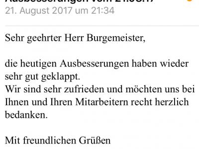 Kundenfeedback Malerfachbetrieb Farbnuance GmbH