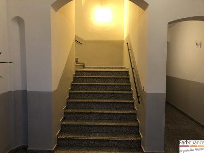 Treppenhaus,Treppenhausgestaltung,Dresden,Maler,Malermeister,Malerarbeiten,Farbnuance,Pirna