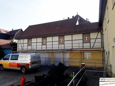 Fassadenarbeiten,Fassade,Keim Fassadenfarben,Malerarbeiten,Maler,Farbnuance,NeueFassade,Pirna,Rathen