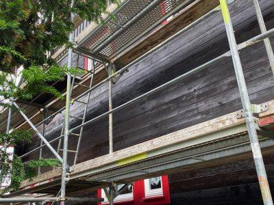 Dresden,Malerarbeiten, Fassade, Holzfassade, Maler, Renovierung, Außenanstrich, Farnuance-2