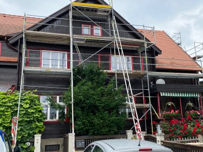 Dresden,Malerarbeiten, Fassade, Holzfassade, Maler, Renovierung, Außenanstrich, Farnuance-3