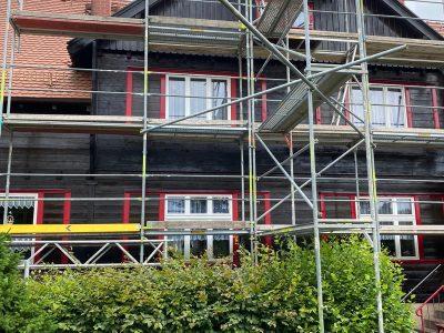Dresden,Malerarbeiten, Fassade, Holzfassade, Maler, Renovierung, Außenanstrich, Farnuance,