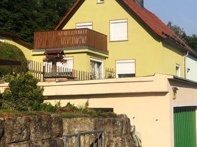 Königstein, Malerarbeiten, Fassade, Maler, Renovierung, Aussenanstrich, Doppelhaushälfte, Farbnuance-3
