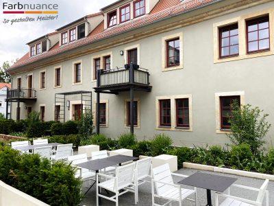 Laurisch Hof, Pirna, Malerarbeiten, Fassade, Maler, Renovierung, Außenanstrich,Hotel, Farbnuance