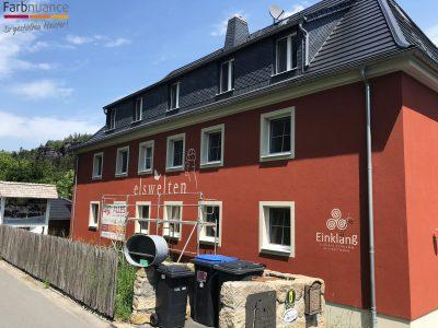 Bielatal, Felswelten, Maler, Malerarbeiten, Fassade, Schablone, Farbnuance-3