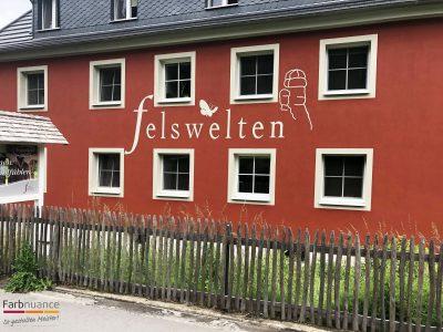 Bielatal, Felswelten, Maler, Malerarbeiten, Fassade, Schablone, Farbnuance-4