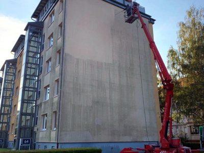 Dresden, Fassadenwäsche, Mehrfamilienhaus, Algenmax, Farbnuance, Renovierung, Fassadenreinigung, Reinigung (1)