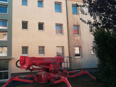 Leipzig, Fassadenwäsche, Fassadenreinigung, Fassade, Algenmax, Fassadenwäscher, Farbnuance, Algenfrei, Maler -1