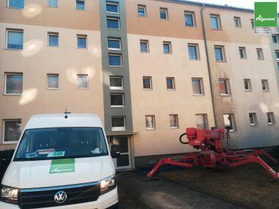 Leipzig, Fassadenwäsche, Fassadenreinigung, Fassade, Algenmax, Fassadenwäscher, Farbnuance, Algenfrei, Maler -3