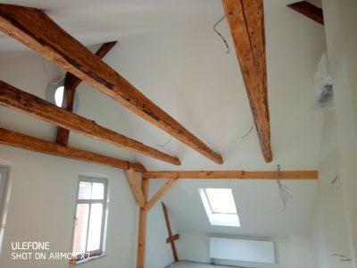 Kreischa, Farbnuance, Mustertapete, Holzbalken, Renovierung, Maler, Malerbetrieb,Malerfirma (4)