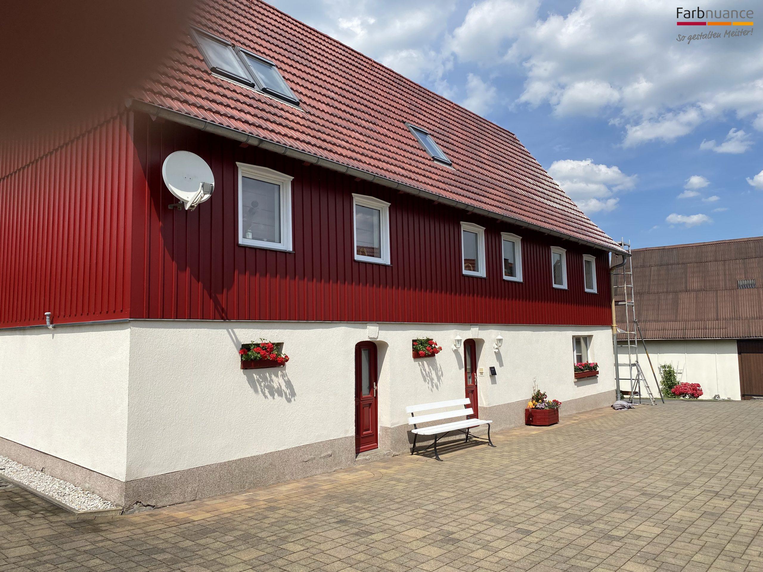 Porschdorf,Farbnuance, Maler,Malerfirma, Holzanstrich,Fassade,Gerüst (1)