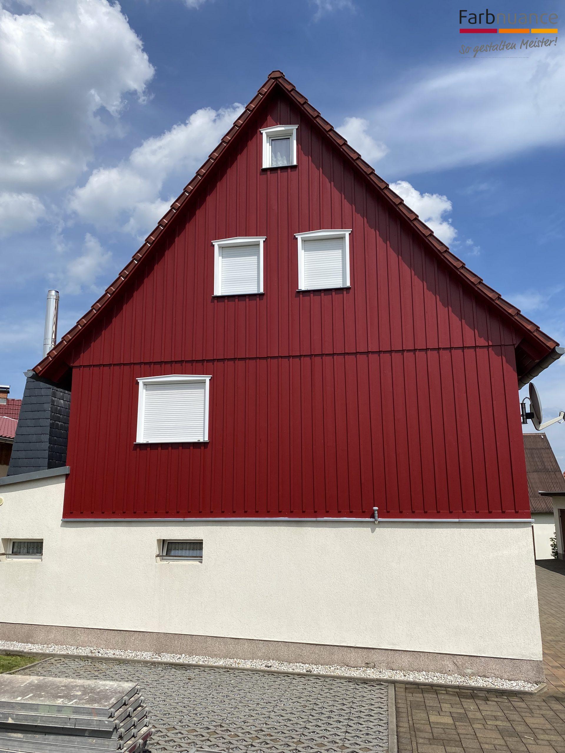 Porschdorf,Farbnuance, Maler,Malerfirma, Holzanstrich,Fassade,Gerüst (2)