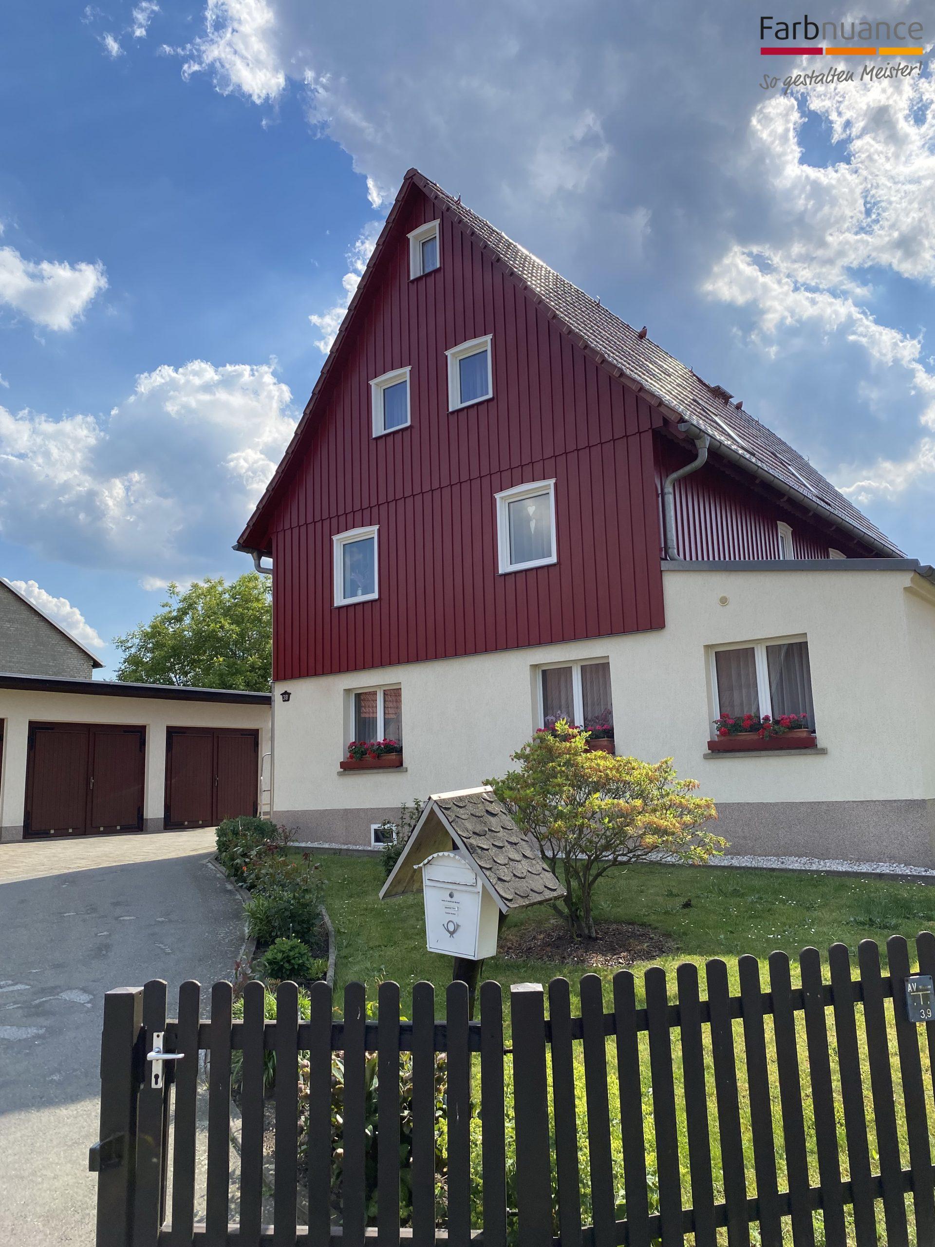 Porschdorf,Farbnuance, Maler,Malerfirma, Holzanstrich,Fassade,Gerüst (3)